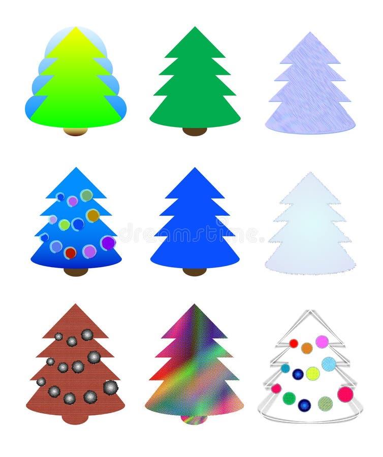 Árvores de Natal ilustração do vetor