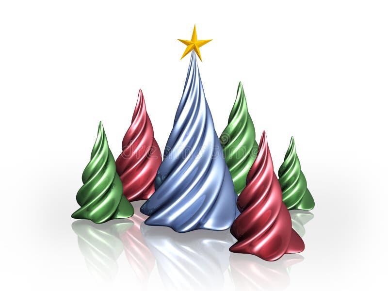Árvores de Natal ilustração royalty free