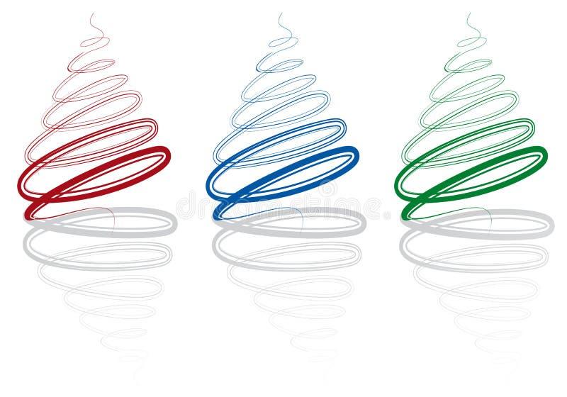 Download Árvores De Natal Abstratas, Ilustração do Vetor - Ilustração de simples, árvore: 16858831