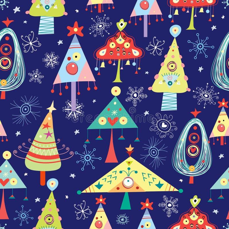 Árvores de Natal da textura ilustração do vetor