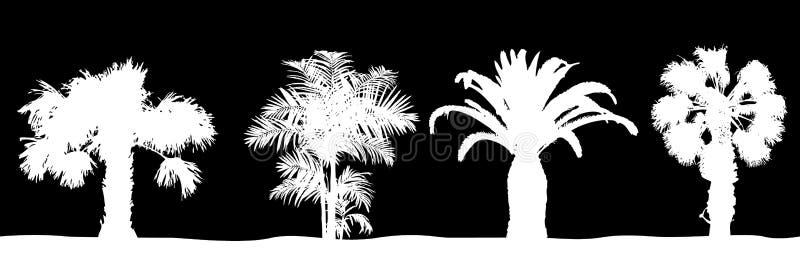 Árvores de Plam ilustração stock
