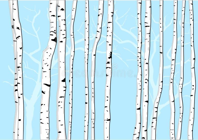Download Árvores de vidoeiro ilustração do vetor. Ilustração de planta - 16870908