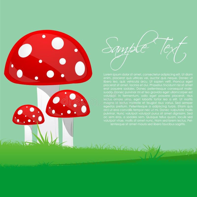 Árvores do cogumelo ilustração royalty free