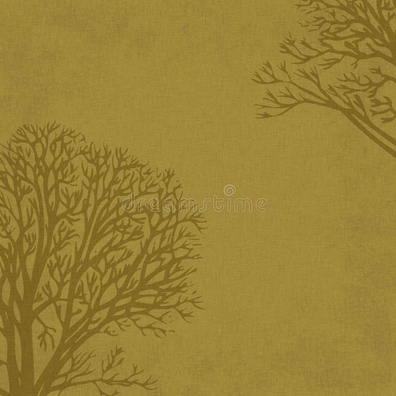 Árvores do inverno do fundo no linho imagem de stock