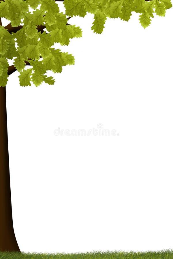 Árvores do verão ilustração royalty free