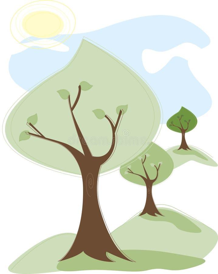 Árvores do verão ilustração stock