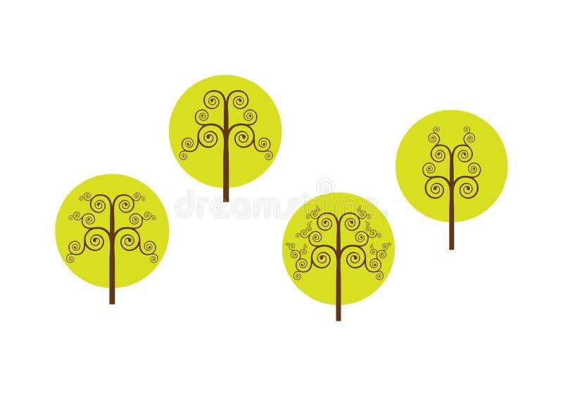 Árvores do vetor ilustração do vetor