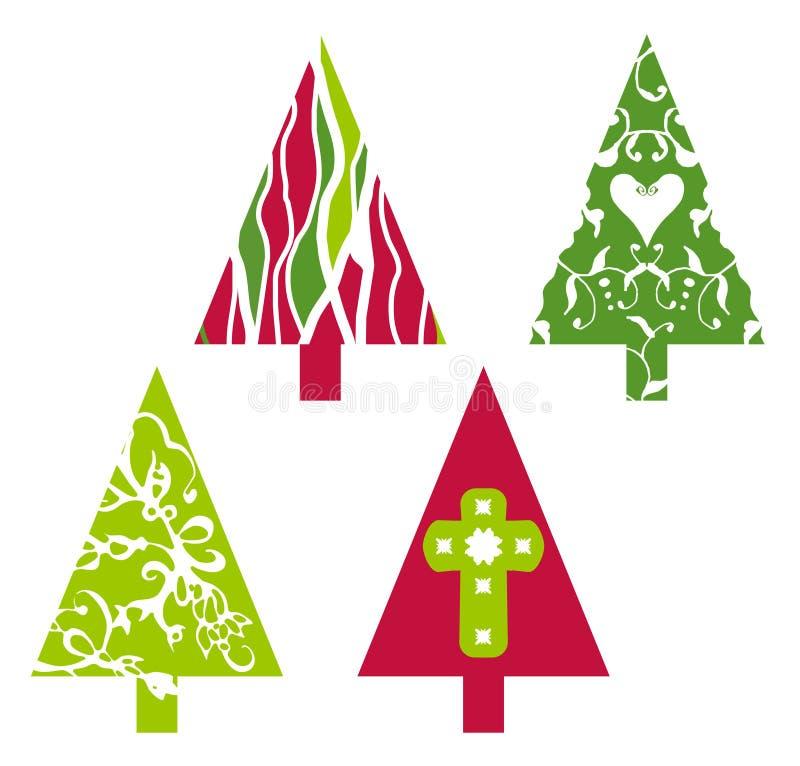 Árvores do vetor do Natal ilustração do vetor