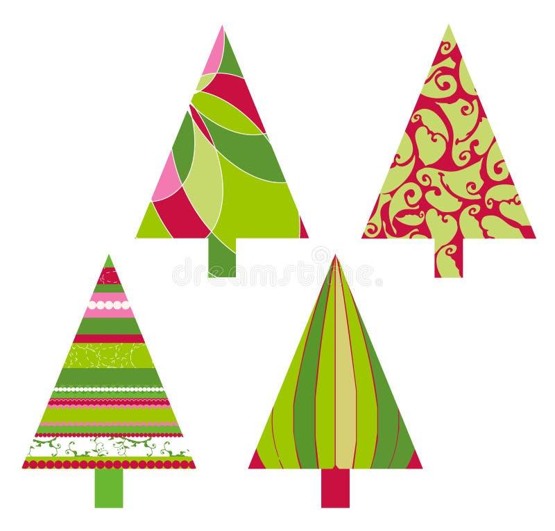 Árvores do vetor do Natal ilustração royalty free