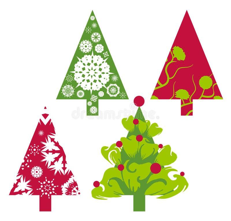 Árvores do vetor do Natal ilustração stock