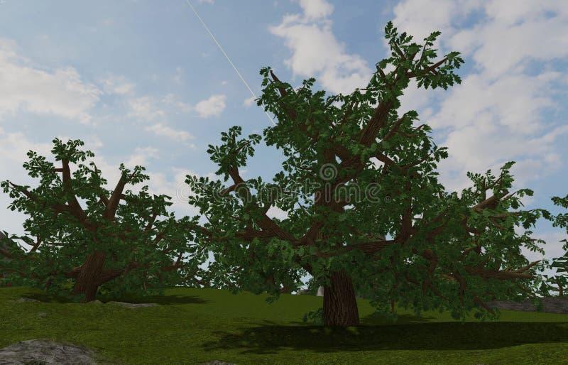 Árvores dos comp(s) fotografia de stock