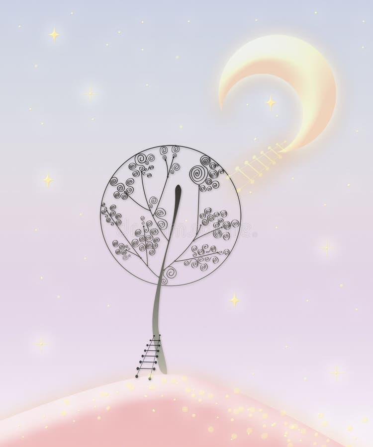 Árvores feericamente foto de stock royalty free