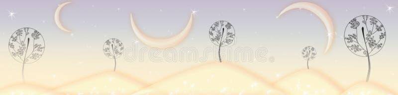 Árvores feericamente imagem de stock