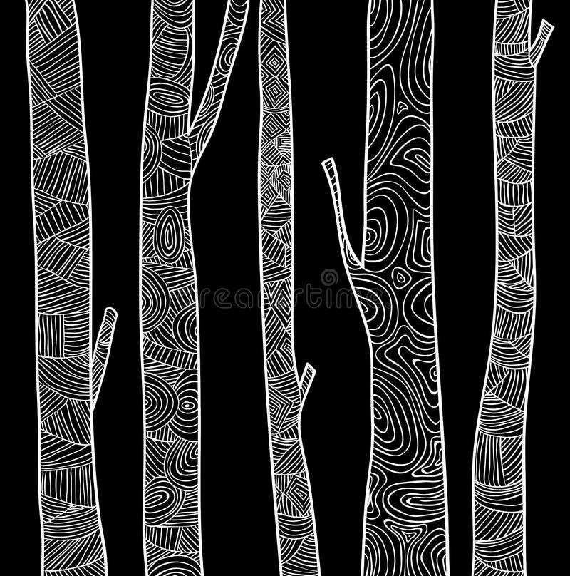 Árvores fundo, ilustração do vetor ilustração stock