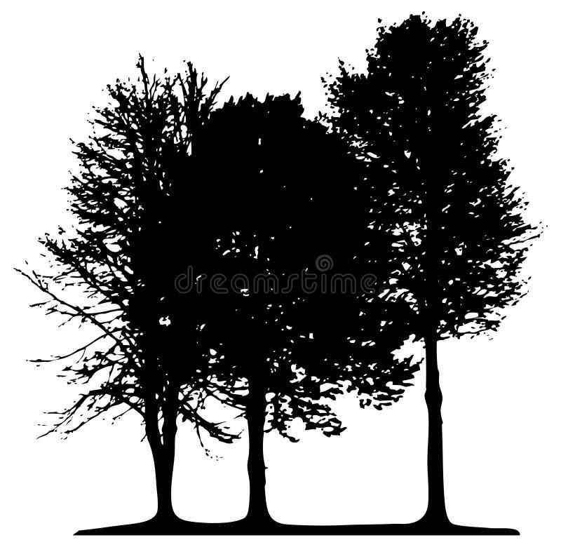 Árvores isoladas ilustração do vetor