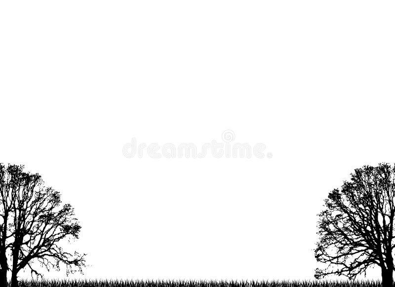 Árvores lisas ilustração royalty free