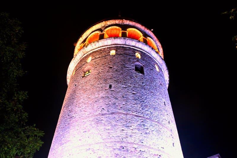 Árvores & torre de Galata, Beyoglu Istambul imagem de stock royalty free