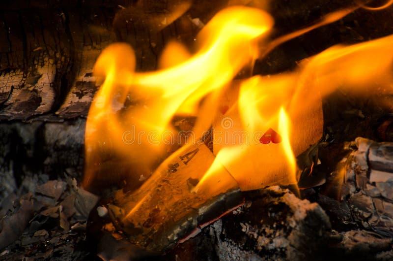 Ás ardentes foto de stock
