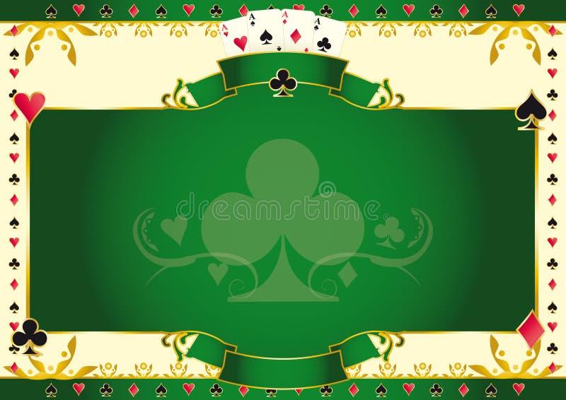Ás do jogo de pôquer do fundo horizontal dos clubes ilustração royalty free