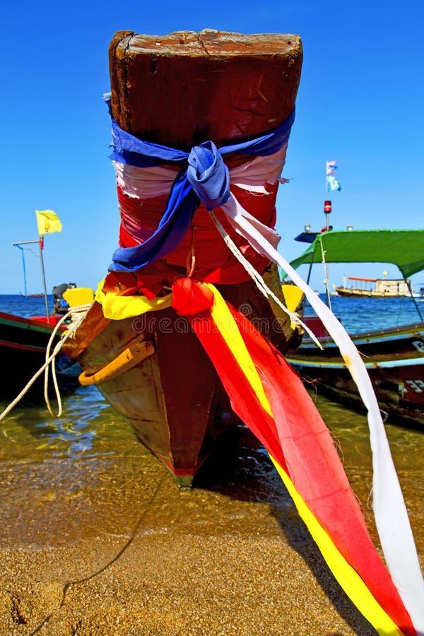 Ásia a âncora de mar da baía de tao do kho fotografia de stock