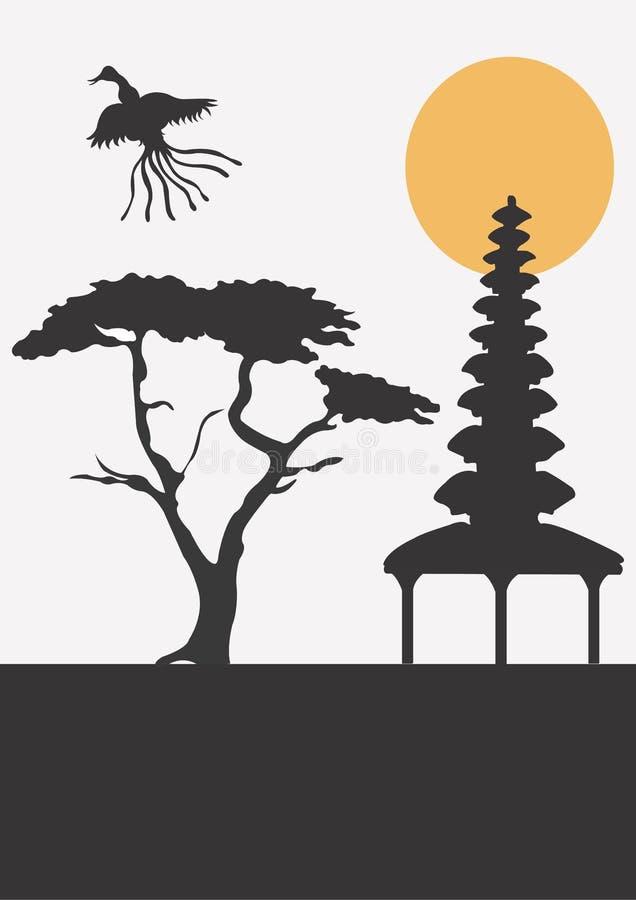 Ásia ilustração royalty free