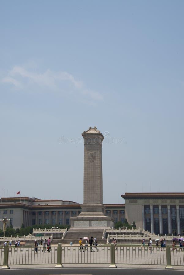 Ásia, chinês, Pequim, monumento aos heróis do pessoa imagem de stock
