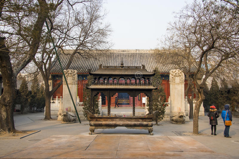 Ásia China, Pequim, arquitetura cênico de ŒLandscape do ¼ do spotï de White Cloud Temple fotos de stock royalty free