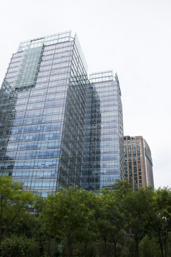 Ásia, China, Pequim, distrito financeiro central de CBD, negócio internacional complexo, arquitetura moderna da cidade imagens de stock royalty free