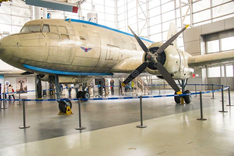 Ásia China, Pequim, museu da aviação civil, salão de exposição interno fotografia de stock