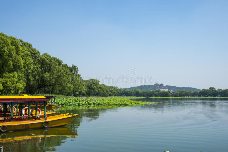 Ásia China, Pequim, o palácio de verão, Lakeview, imagens de stock royalty free