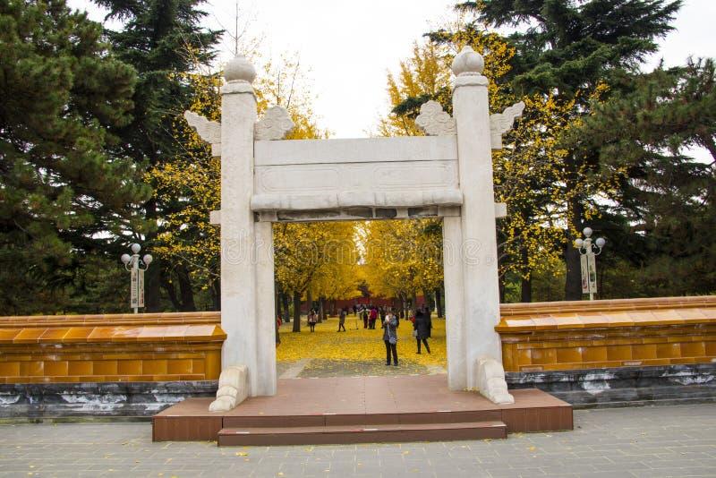 Ásia China, Pequim, parque de Zhongshan, construções históricas, lingxingmeng imagens de stock royalty free