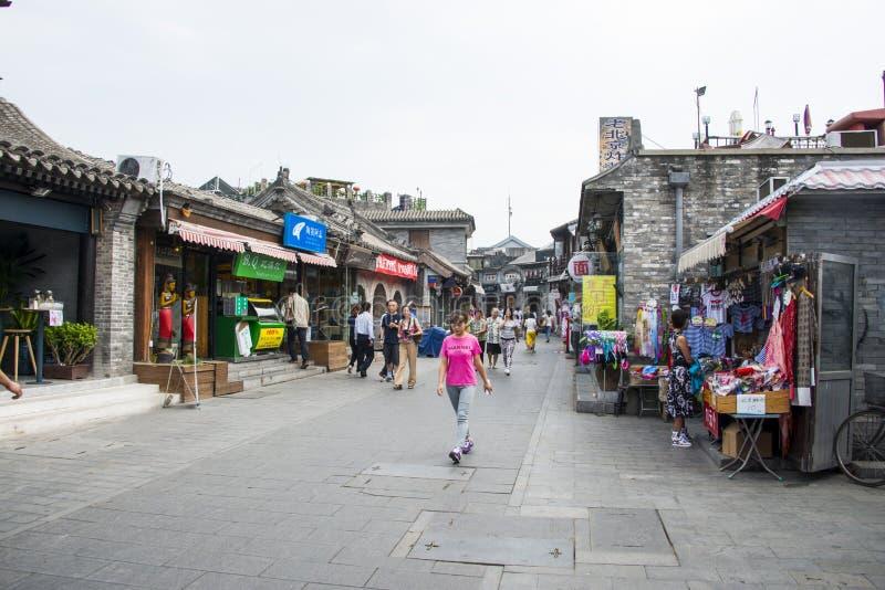Ásia China, Pequim, rua da cultura, Yandaixiejie fotos de stock royalty free