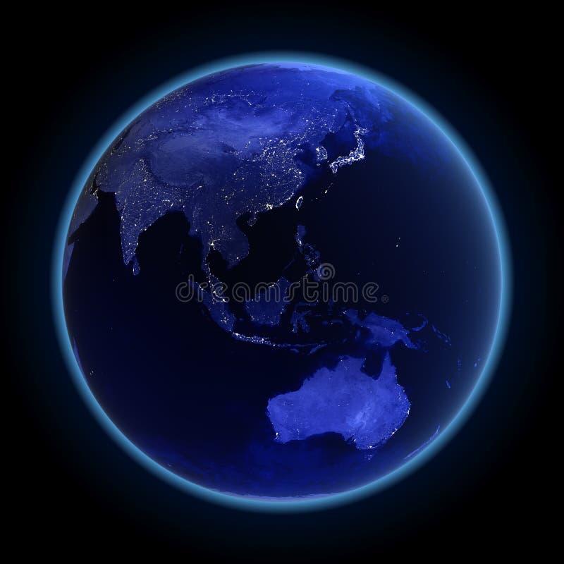 Ásia e Austrália ilustração stock
