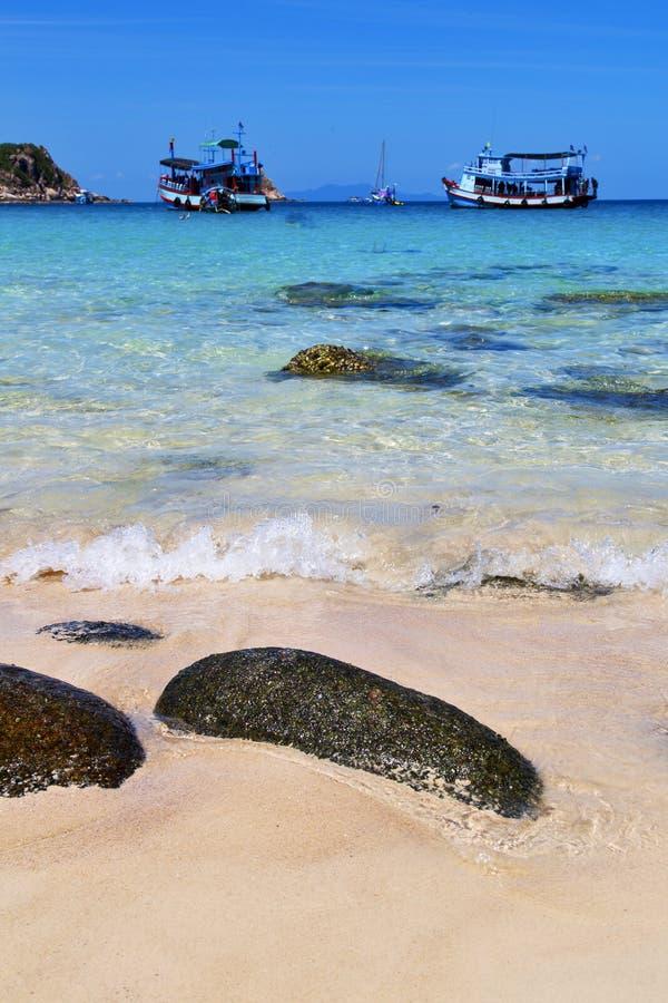 Ásia a ilha Tailândia da baía de tao do kho e mar do Sul da China imagens de stock royalty free