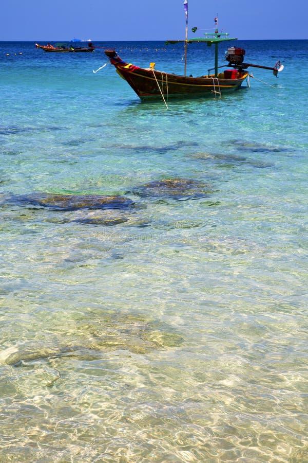 Ásia no kho tao balança o barco Tailândia e o queixo sul imagem de stock royalty free