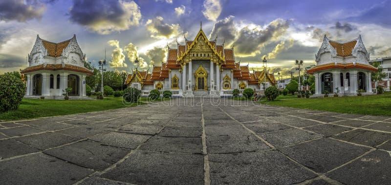Ásia, o templo de mármore (Wat Benchamabophit), Banguecoque, Tailândia fotografia de stock