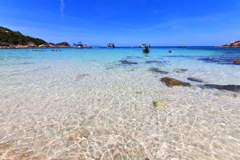 Ásia a praia de tao do kho balança o barco de casa Tailândia fotografia de stock royalty free