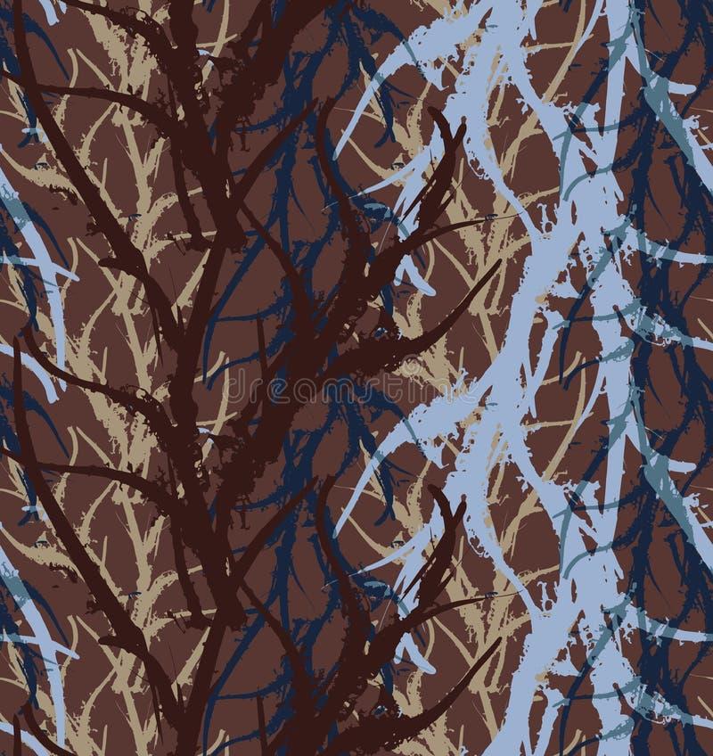 Áspero abstracto azul y marrón de la alga marina del quelpo libre illustration