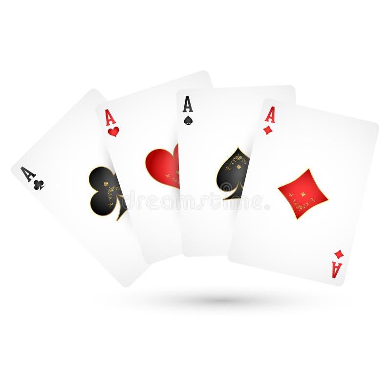 Áss dos cartões de jogo ilustração royalty free