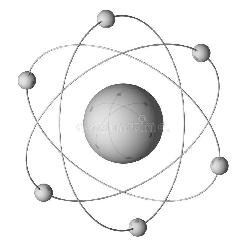 Átomo stock de ilustración