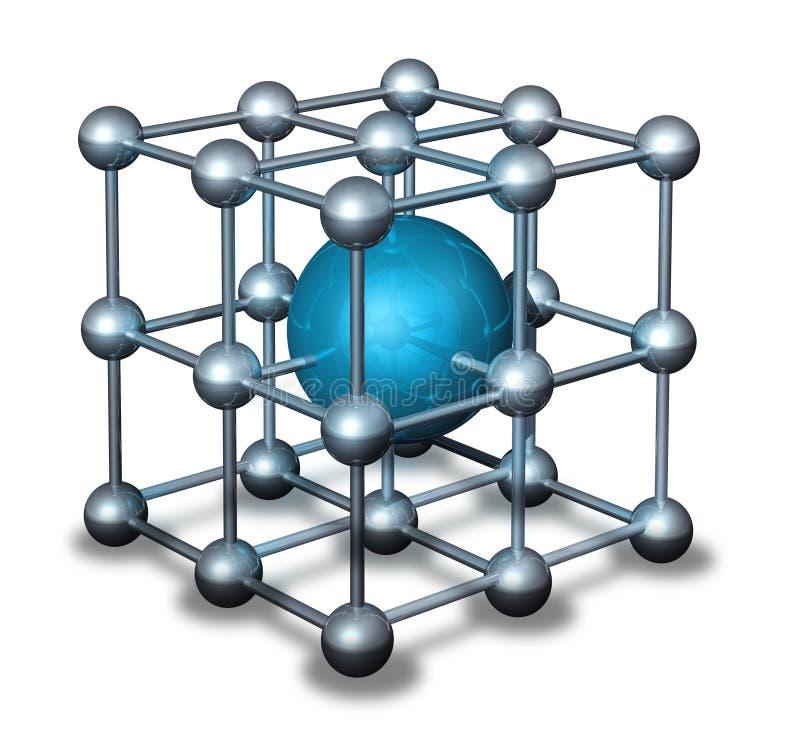 Átomo azul del nanoparticle stock de ilustración