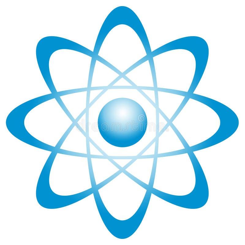 Átomo com órbita ilustração stock