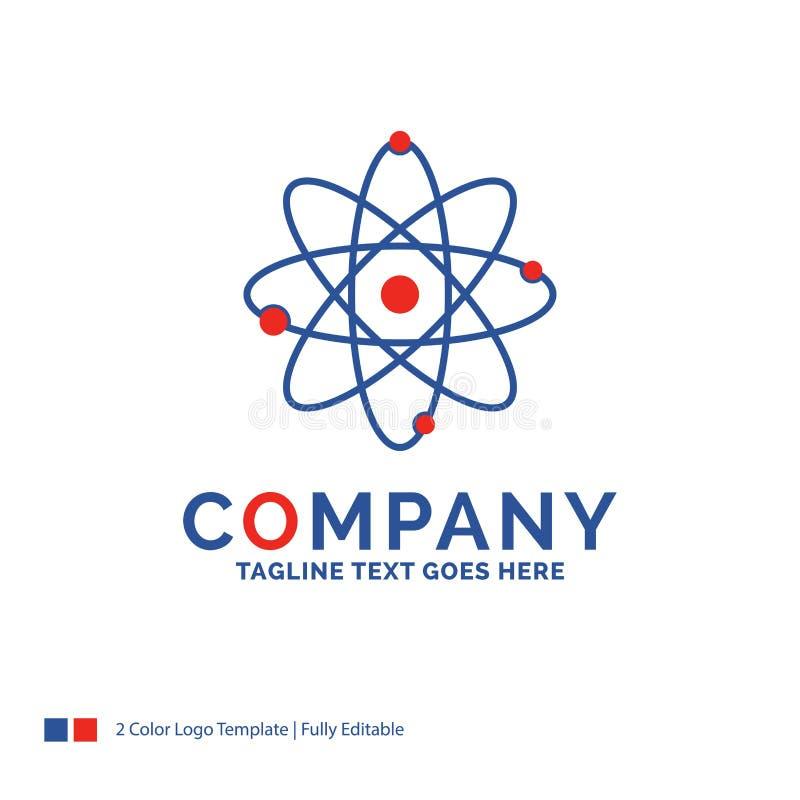 Átomo de Logo Design For do nome da empresa, nuclear, molécula, química ilustração do vetor