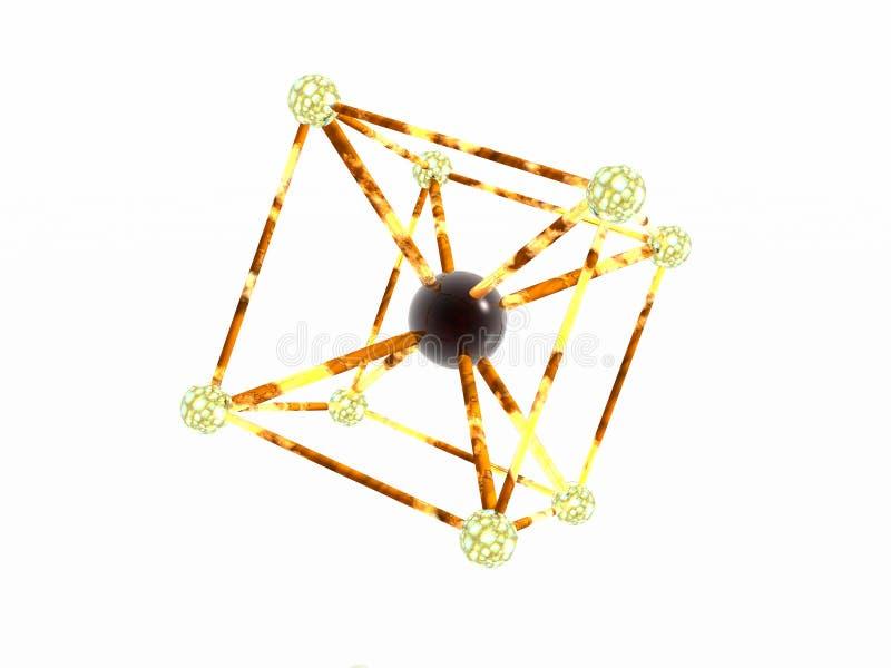 Átomo del hierro. ilustración del vector