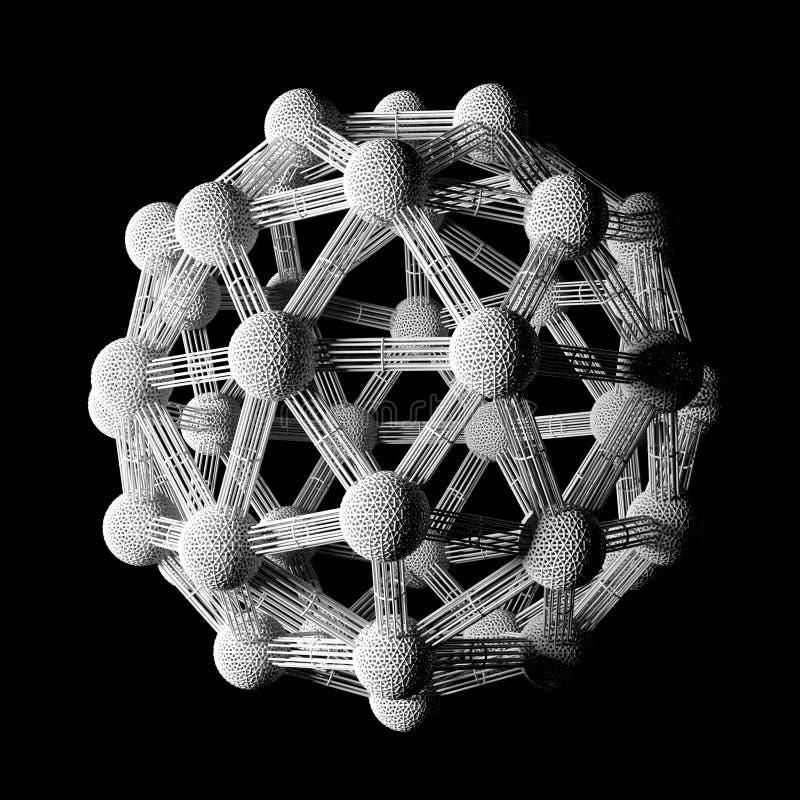 Átomos e modelo da molécula ilustração do vetor