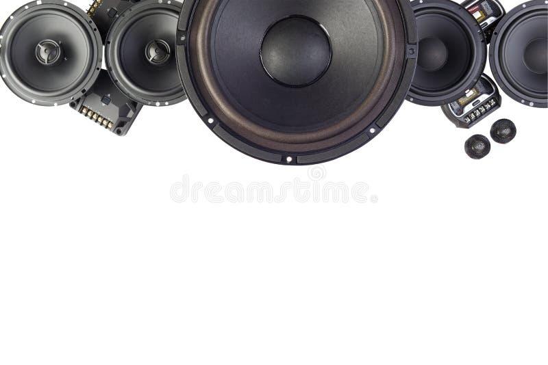 Áudio do carro com oradores imagens de stock royalty free