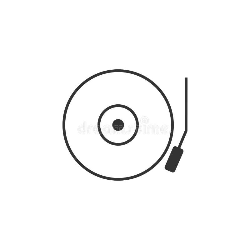 Áudio, linha ícone da música Ilustração lisa simples, moderna do vetor para o app móvel, Web site ou desktop app ilustração royalty free