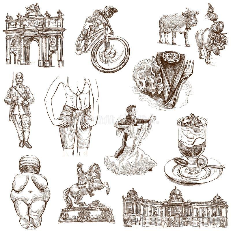 Áustria 2 ilustração stock