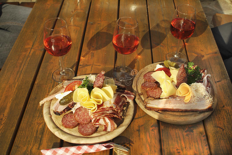 Áustria, alimento fotografia de stock royalty free