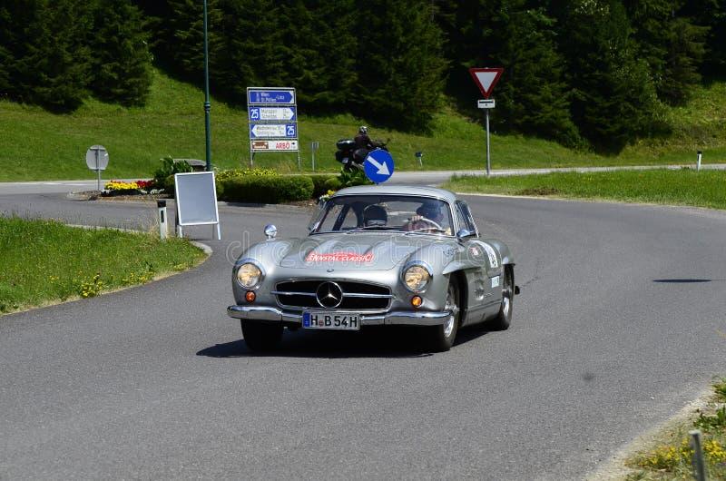 Áustria, carro do vintage foto de stock